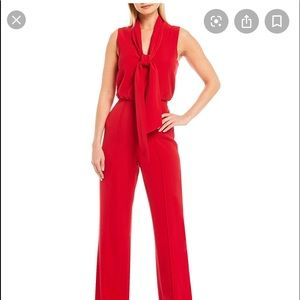 Antonio Melani sal bow at neck jumpsuit. NWT
